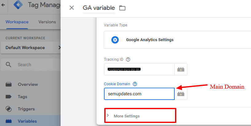 Google Tag Manager 0 Variables - 3