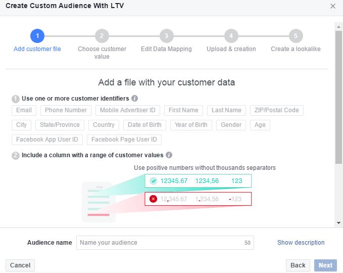 13 Custom audience - Value-Based Lookalike feature in Facebook Ads