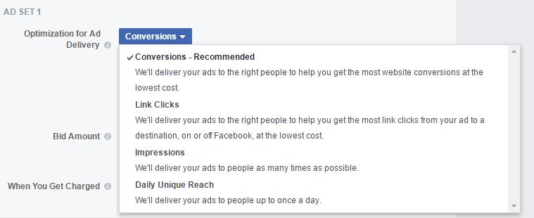 5 - Delivery optimization split testing in Facebook