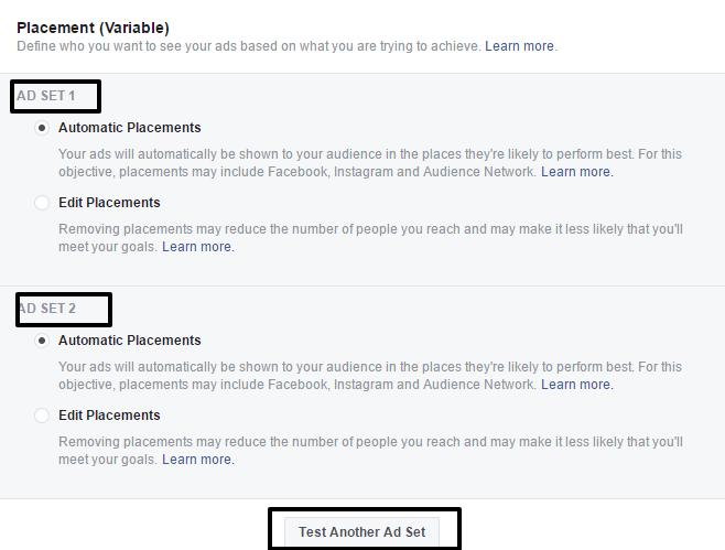 8 Facebook placement split testing