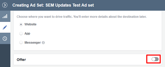 3 Facebook offer ads - Click the button to enable the offer in your ad