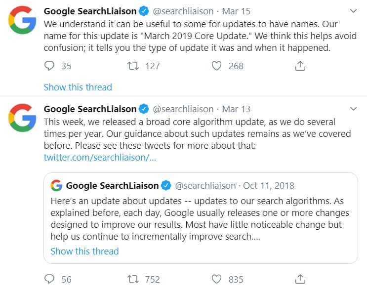google algorithm update 1