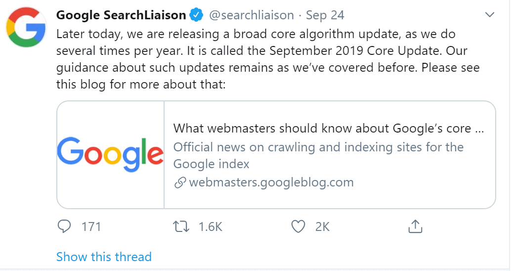google algorithm core update 3