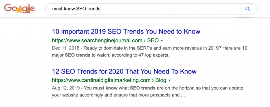 Must-Know SEO Trends on Google