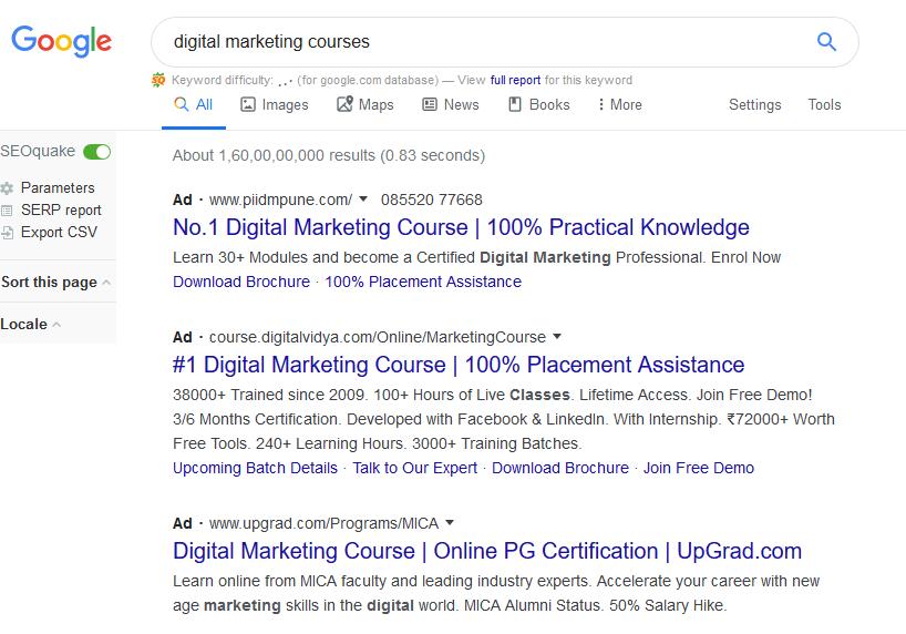 Search engine marketing PPC