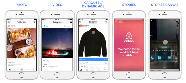 Types of Instagram ad formats