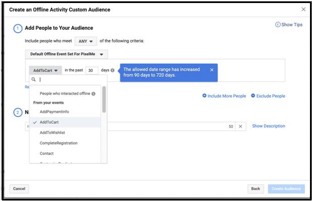 10- create an offline activity custom audience