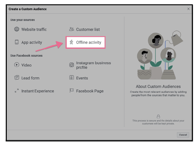 8-offline activity in Facebook business manager