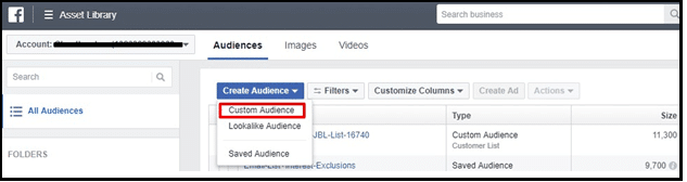 9- Create offline custom audience in facebook