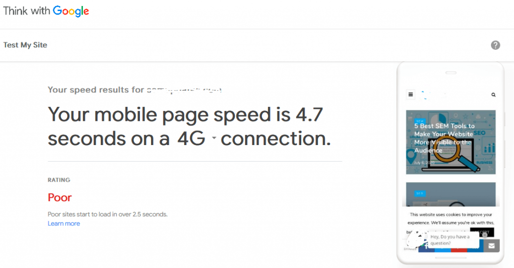 Compare your mobile site speed-1